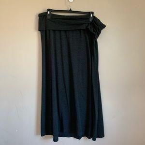 GUC lane Bryant size 18 Maxi skirt Gray Fold over